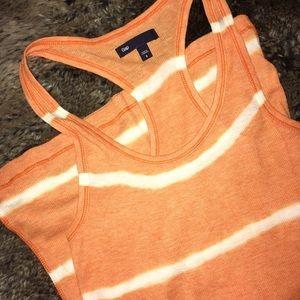 Gap orange ribbed tank tie-dye size small EUC